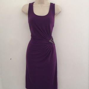 Purple stretchy beaded dress JLo size large